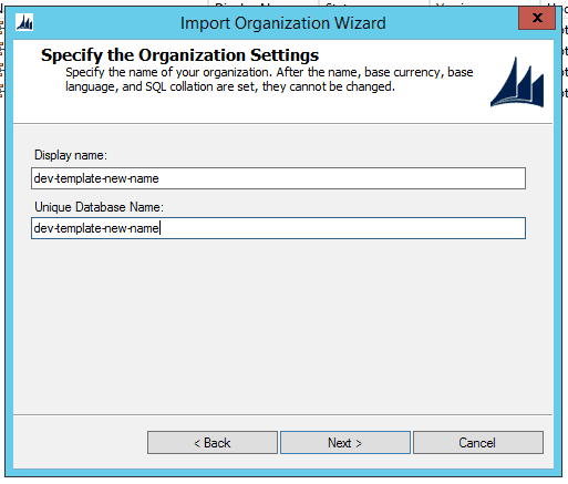 import-dev-template-as-new-name
